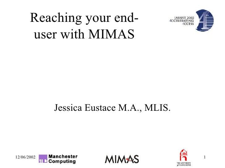 Jessica Eustace M.A., MLIS.