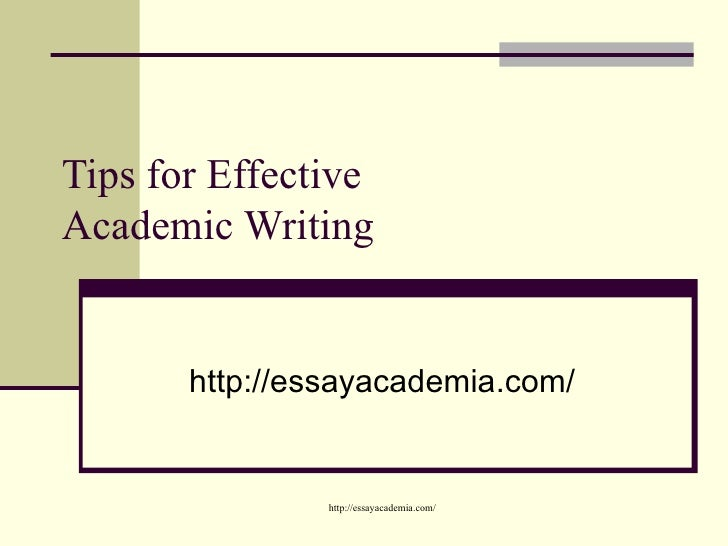 characteristics of academic essay writing