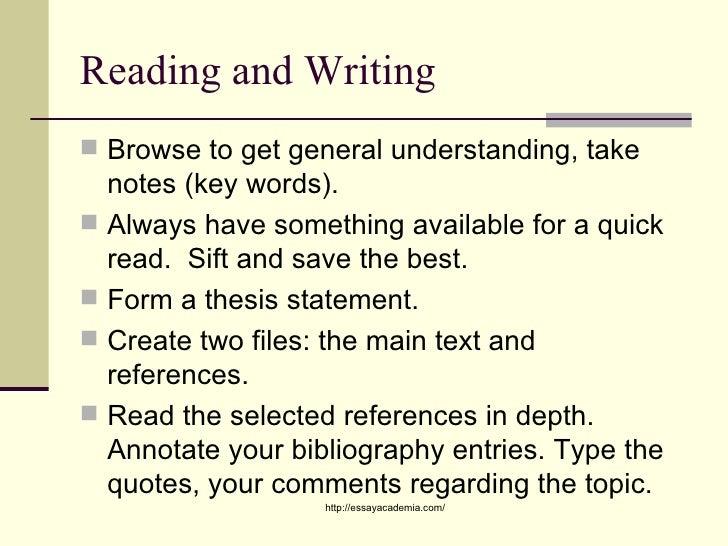 Effective academic writing