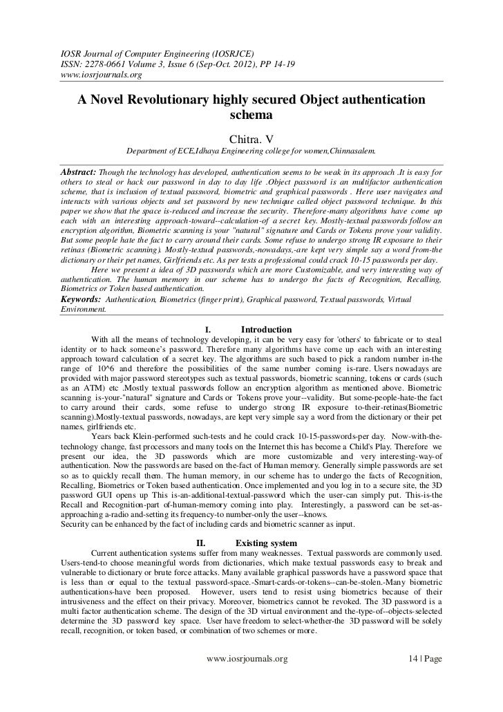 IOSR Journal of Computer Engineering (IOSRJCE)ISSN: 2278-0661 Volume 3, Issue 6 (Sep-Oct. 2012), PP 14-19www.iosrjournals....
