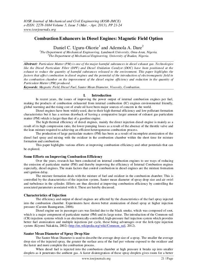 IOSR Journal of Mechanical and Civil Engineering (IOSR-JMCE)e-ISSN: 2278-1684 Volume 5, Issue 5 (Mar. - Apr. 2013), PP 21-...