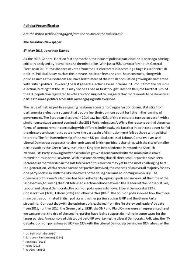 Essay on politics