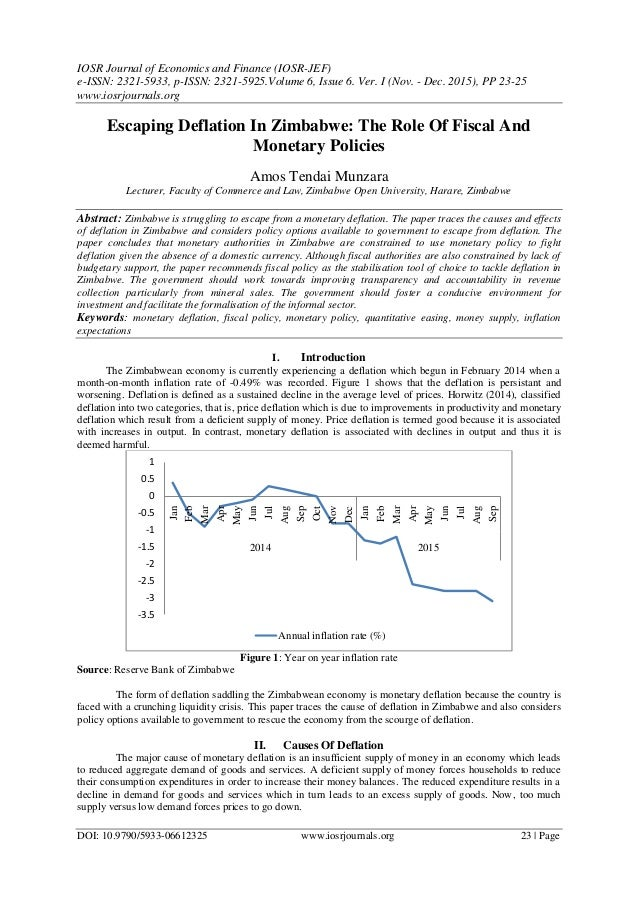 a description of the monetary and fiscal policies Learn about the objective of canada's monetary policy and the main instruments used to implement it: the inflation-control target and the flexible exchange rate.