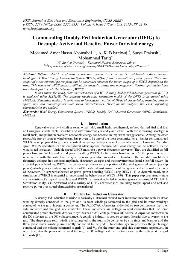 IOSR Journal of Electrical and Electronics Engineering (IOSR-JEEE) e-ISSN: 2278-1676,p-ISSN: 2320-3331, Volume 7, Issue 3 ...