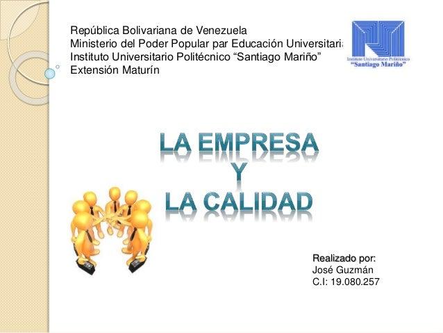 República Bolivariana de Venezuela Ministerio del Poder Popular par Educación Universitaria Instituto Universitario Polité...