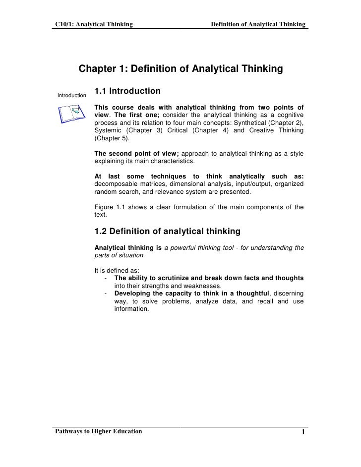 stanford critical analytical thinking seminar