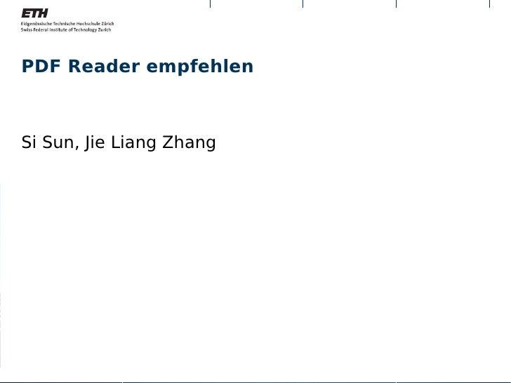 PDF Reader empfehlenSi Sun, Jie Liang Zhang