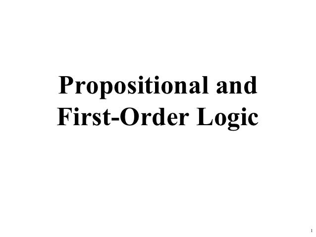 Propositional andFirst-Order Logic                    1