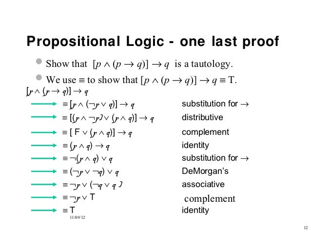 Propositional And First Order Logic
