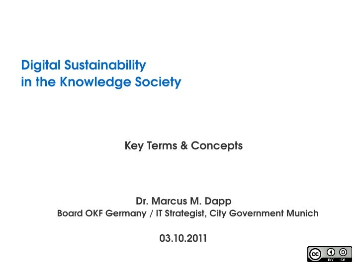 Lecture 2011.02: Key Terms and Concepts (Digital Sustainability)