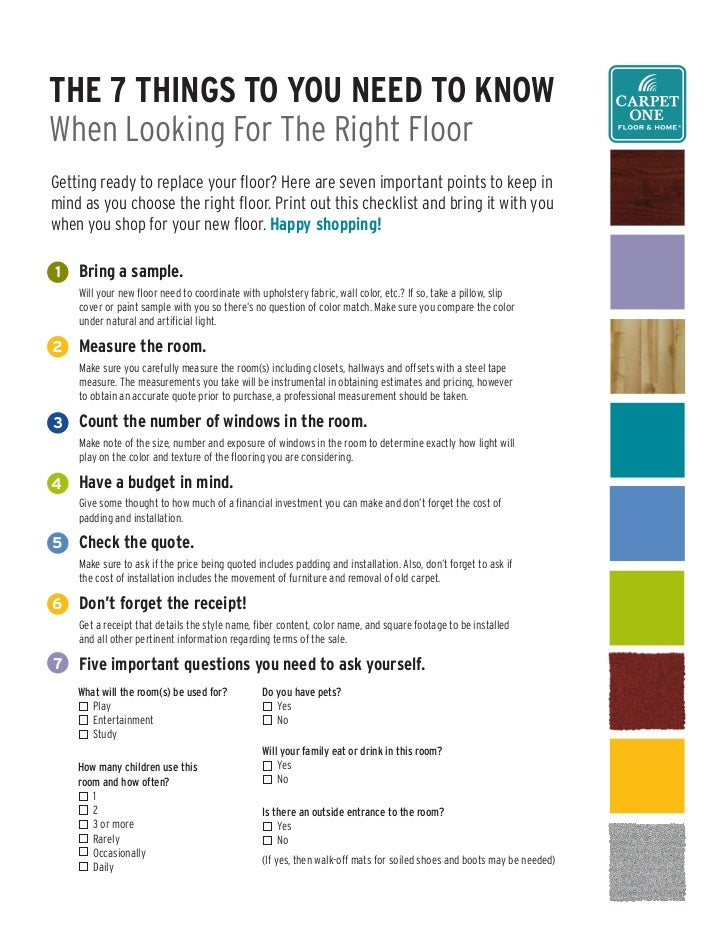 The 7 Things To You need To Know When Looking For The Right Floor Getting ready to replace your floor? Here are seven impo...