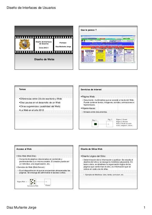 Diseño de Interfaces de Usuarios                                                                            Que le parece ...