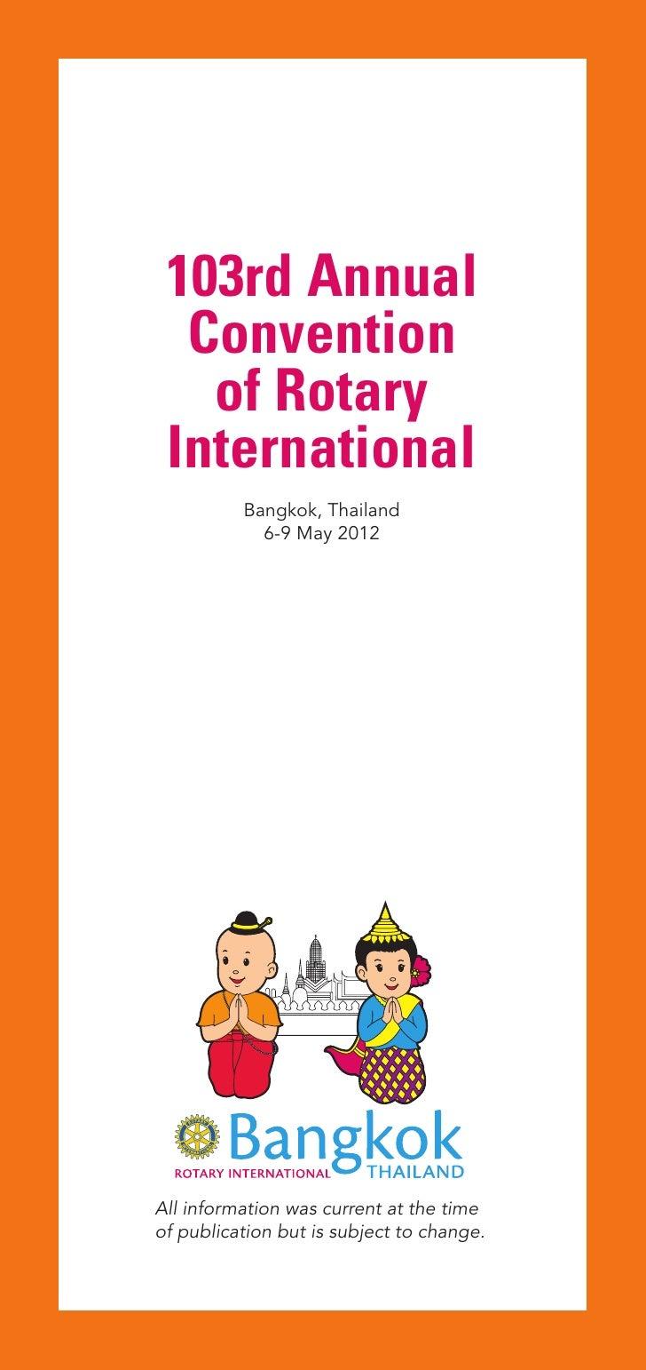 Program Rotary International Convention 2012 Bangkok Thailand