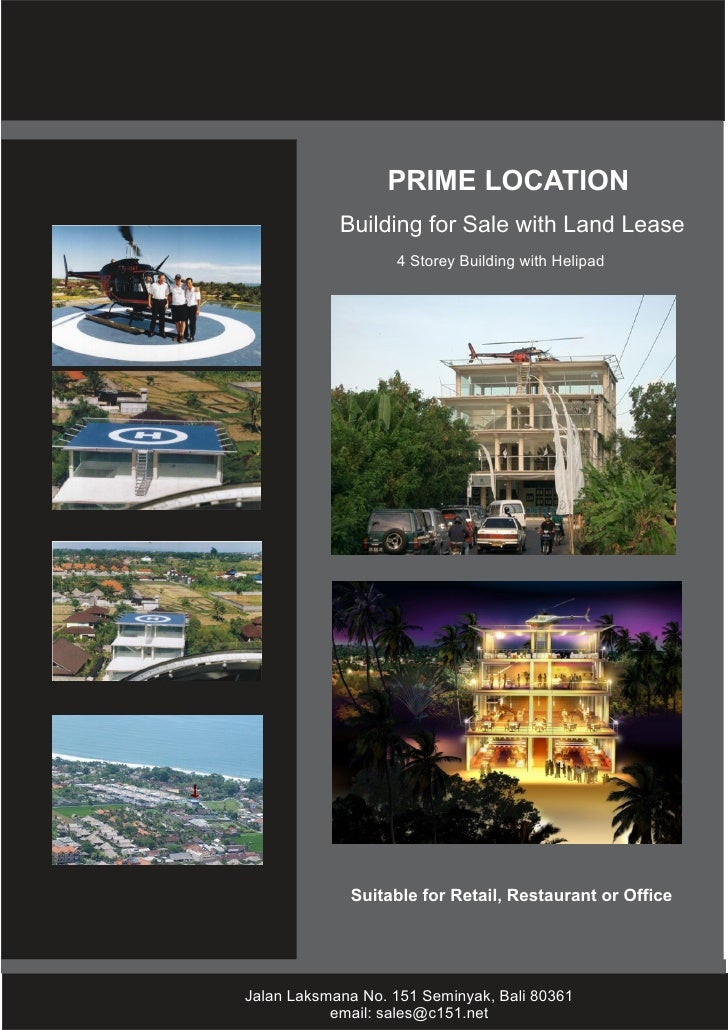 PRIME LOCATION            Building for Sale with Land Lease                   4 Storey Building with Helipad             S...