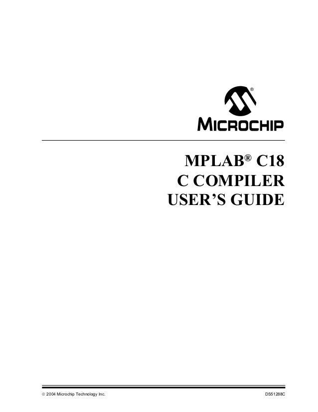 C18 c compiler user guide