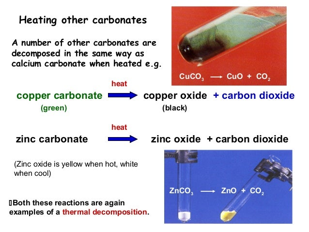 Calcium carbonate thermal decomposition