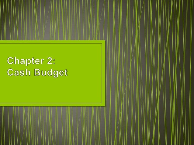 C2 cash budget