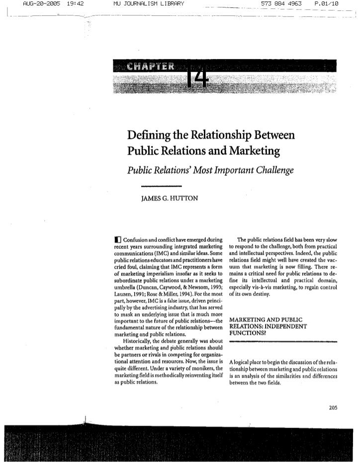 relationship between journalists and public relations