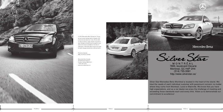2010 Mercedes Benz C-Class Prices Silver Star Montreal Québec Canada