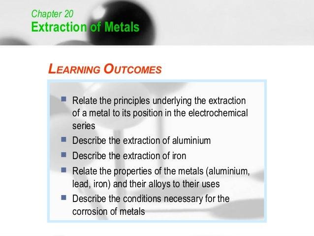 C20 extraction of metals