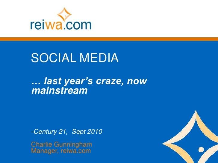 Social Media for real estate - updated