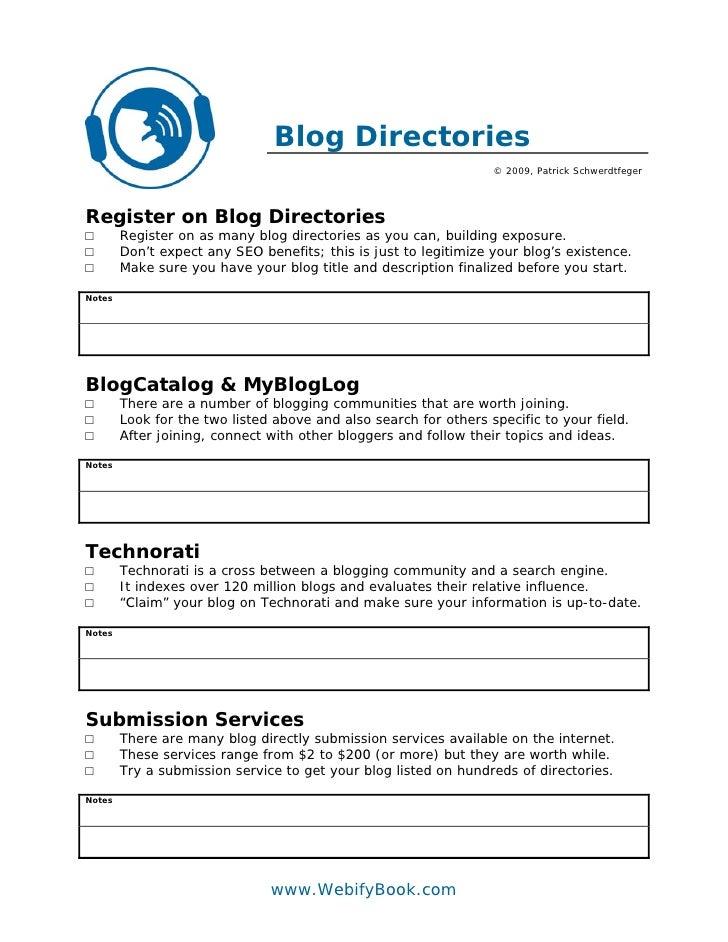 Blog Directories                                                                   © 2009, Patrick Schwerdtfeger     Regis...