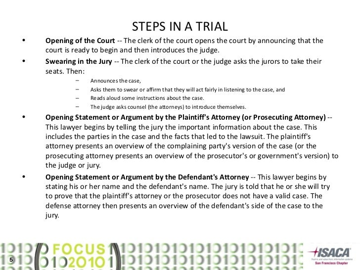 mock trial opening statement Learn mock trial questions with free interactive flashcards choose from 500 different sets of mock trial questions flashcards on quizlet.