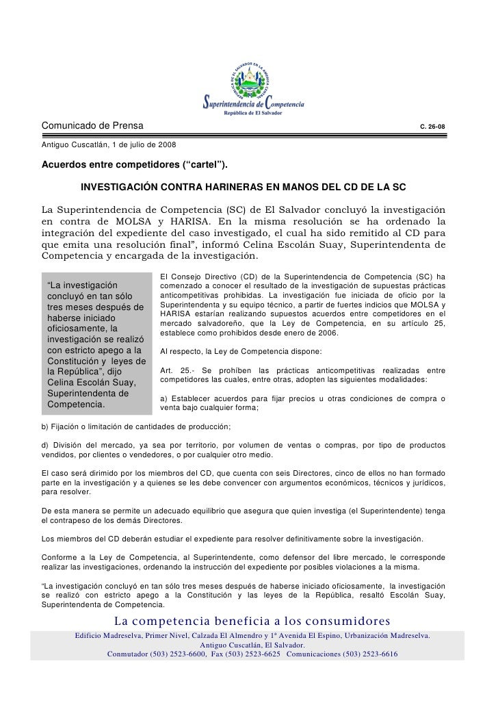 Comunicado de Prensa                                                                                         C. 26-08  Ant...