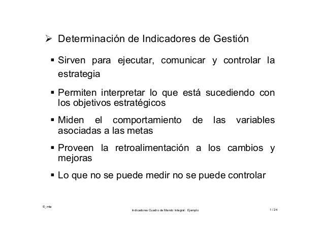  Determinación de Indicadores de Gestión     Sirven para ejecutar, comunicar y controlar la      estrategia     Permite...