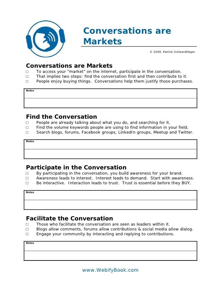 C28 conversations are markets (worksheet)