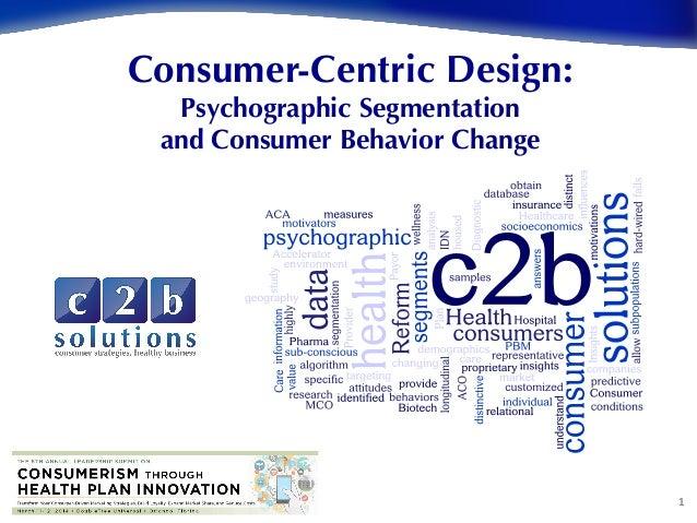 1   Consumer-Centric Design: Psychographic Segmentation and Consumer Behavior Change