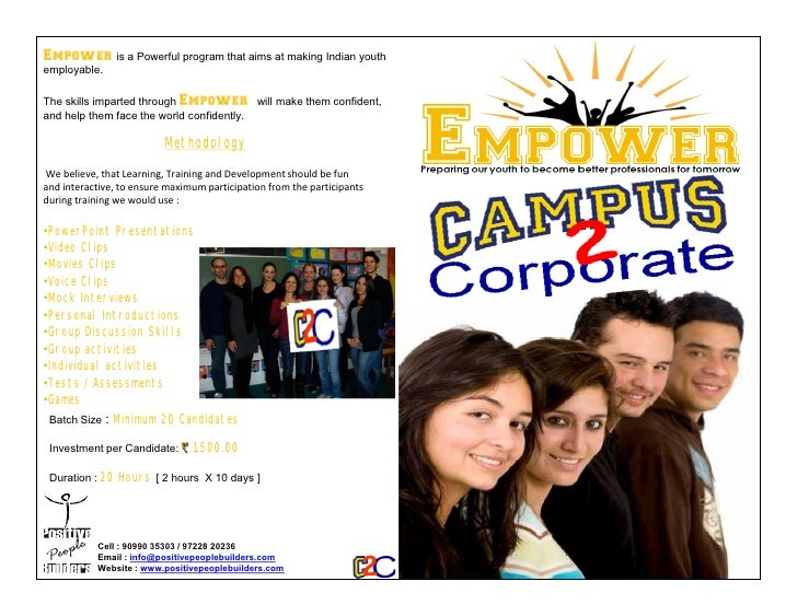 Campus to Corporate brochure