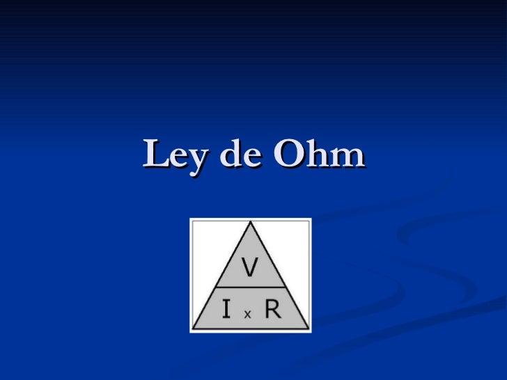 Ley de ohm for Ley del offside