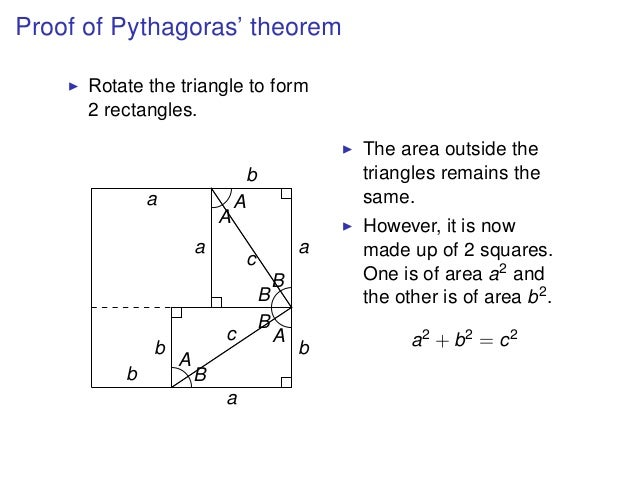 pythagoras report Pythagorean theorem: investigating relationships between sides of triangles summary: students will determine which type of triangles the pythagorean theorem.
