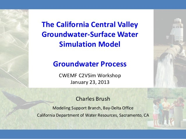 The California Central Valley  Groundwater-Surface Water       Simulation Model        Groundwater Process          CWEMF ...