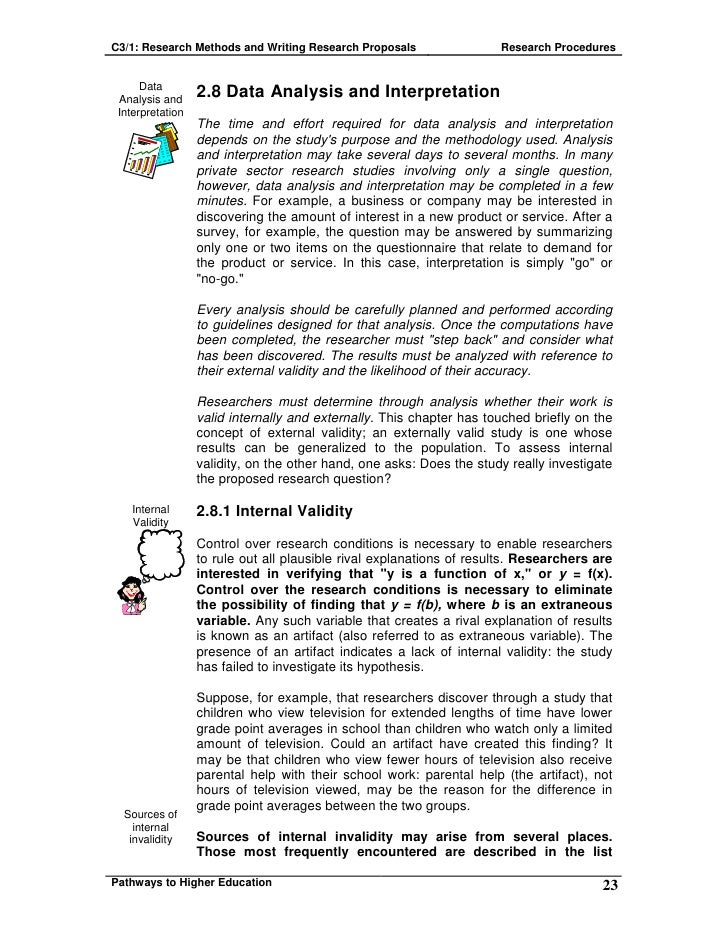 Proposed analysis in a research proposal