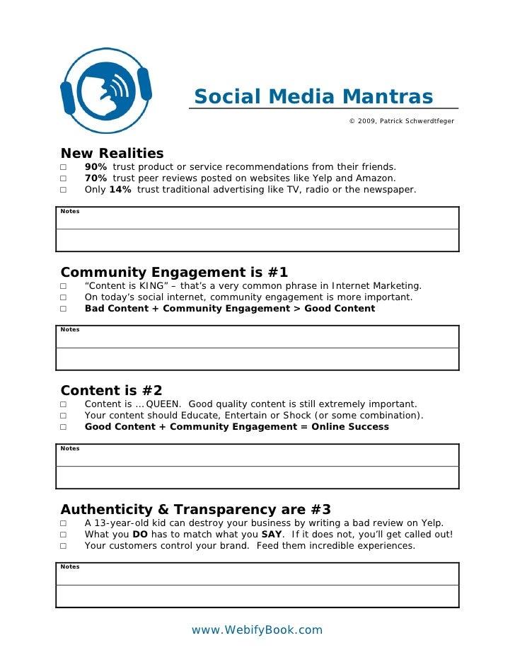 C32 social media mantras (worksheet)
