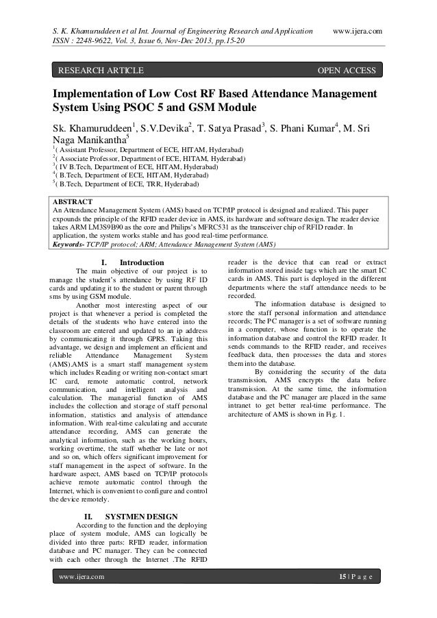 S. K. Khamuruddeen et al Int. Journal of Engineering Research and Application ISSN : 2248-9622, Vol. 3, Issue 6, Nov-Dec 2...