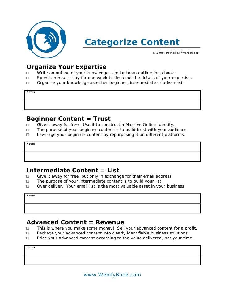 Categorize Content                                                                  © 2009, Patrick Schwerdtfeger     Orga...