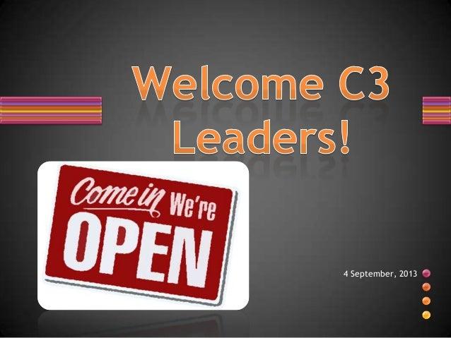 C3 leader's training 1 september 4, 2013