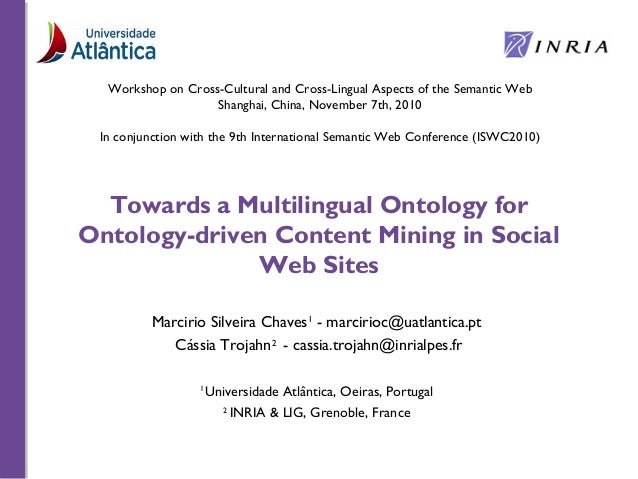 Towards a Multilingual Ontology for Ontology-driven Content Mining in Social Web Sites