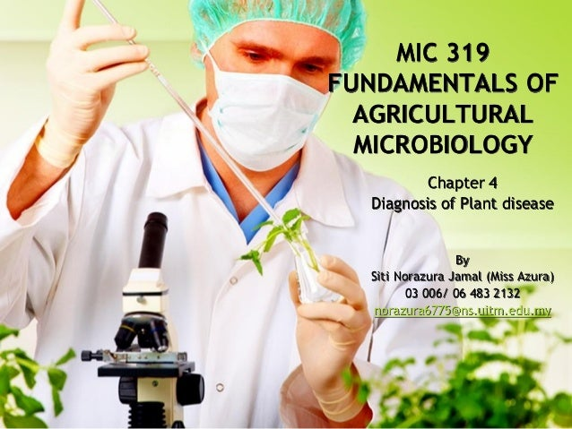 MIC 319 FUNDAMENTALS OF AGRICULTURAL MICROBIOLOGY Chapter 4 Diagnosis of Plant disease  By Siti Norazura Jamal (Miss Azura...