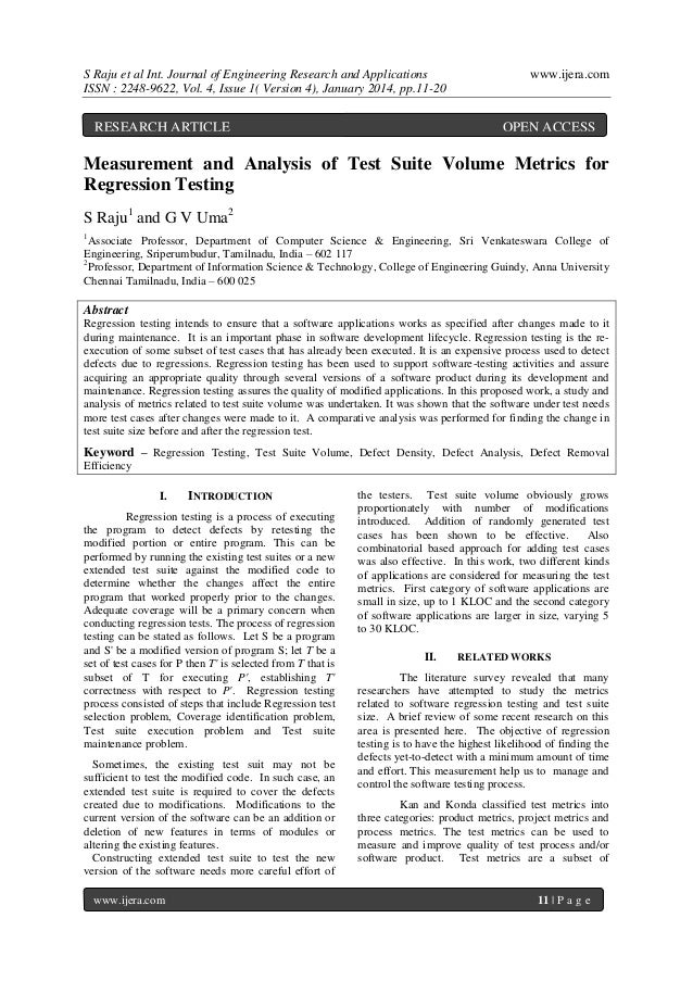 S Raju et al Int. Journal of Engineering Research and Applications ISSN : 2248-9622, Vol. 4, Issue 1( Version 4), January ...