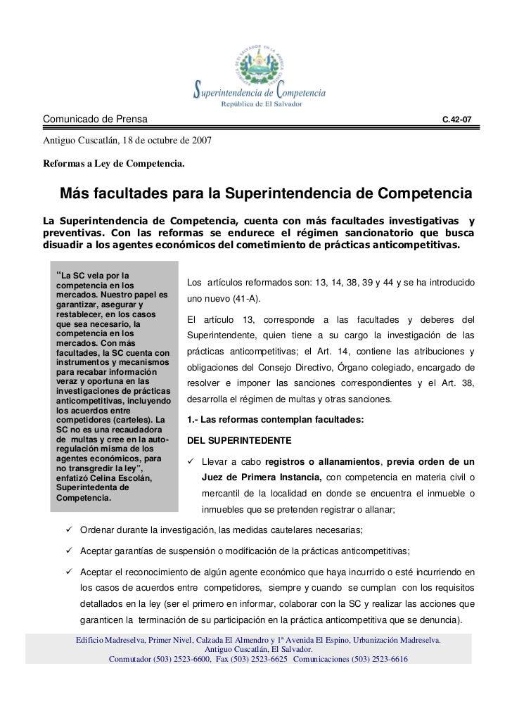 Comunicado de Prensa                                                                                             C.42-07  ...