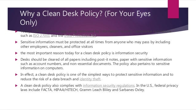 Clean Desk Policy