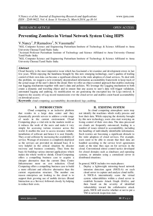 V.Nancy et al Int. Journal of Engineering Research and Applications www.ijera.com ISSN : 2248-9622, Vol. 4, Issue 3( Versi...