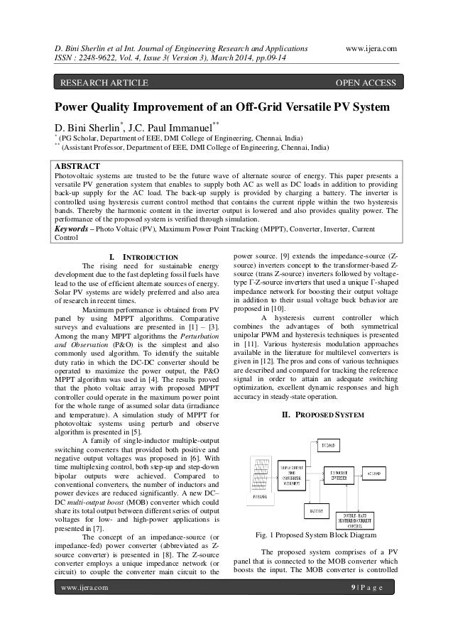 D. Bini Sherlin et al Int. Journal of Engineering Research and Applications www.ijera.com ISSN : 2248-9622, Vol. 4, Issue ...
