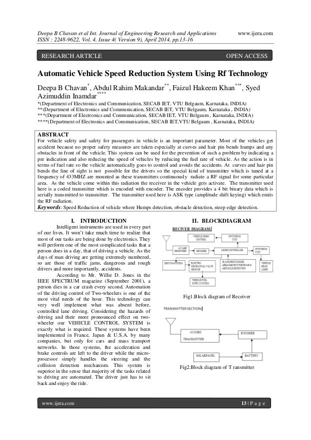 Deepa B Chavan et al Int. Journal of Engineering Research and Applications www.ijera.com ISSN : 2248-9622, Vol. 4, Issue 4...
