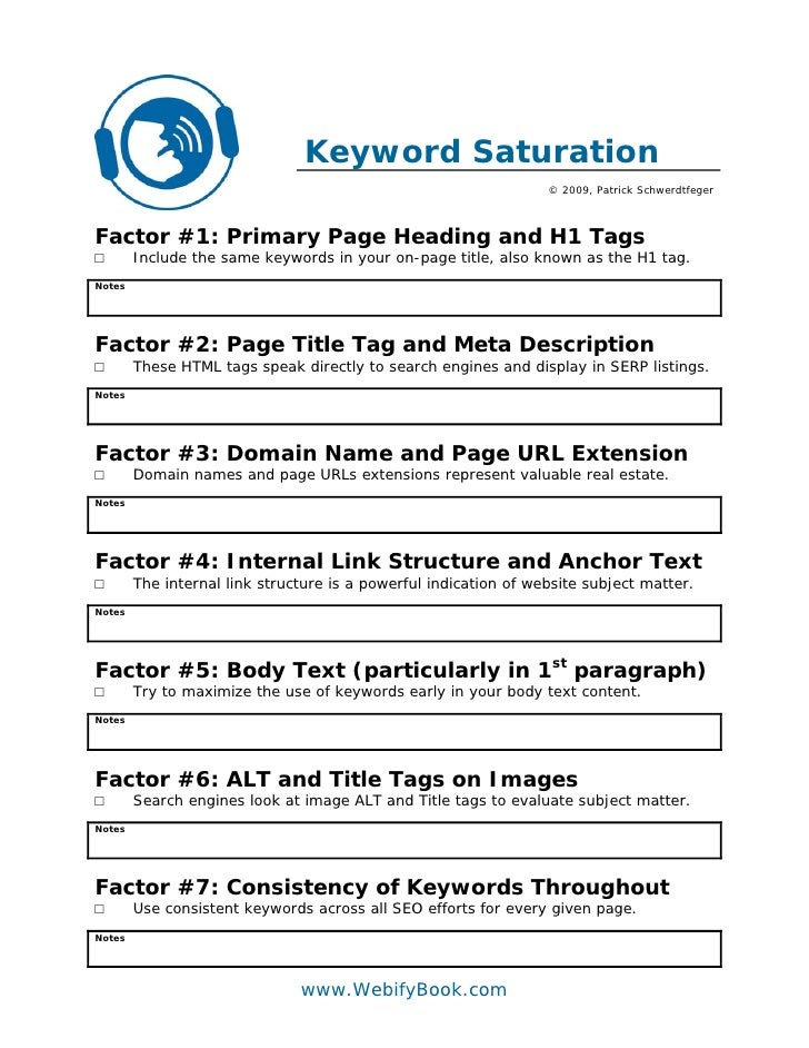Keyword Saturation                                                                   © 2009, Patrick Schwerdtfeger    Fact...