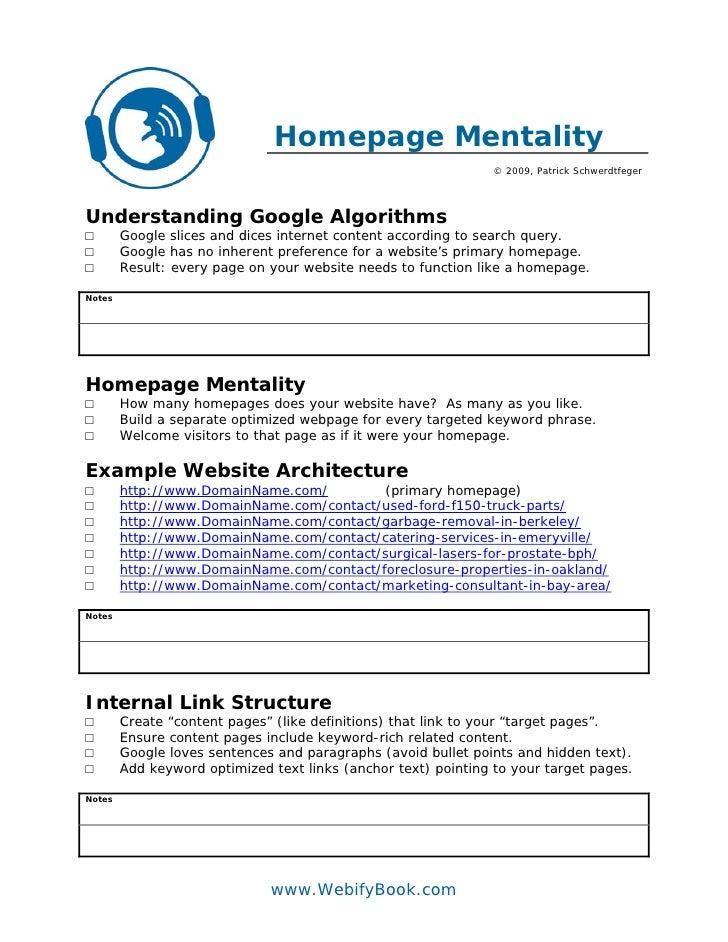 C46 seo homepage mentality worksheet